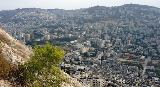 Nablus from Mount Ebal